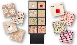 DISPLAY D'HIVER RECYCLE ET RECYCLABLE – FILM BIO DEGRADABLE