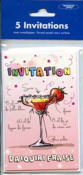 POCHETTE  INVITATION x 5