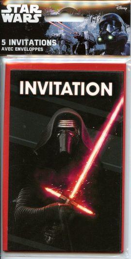 POCHETTE INVITATION x 5 – STAR WARS