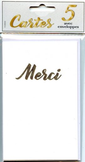 POCHETTE MERCI x 5 + Enveloppes