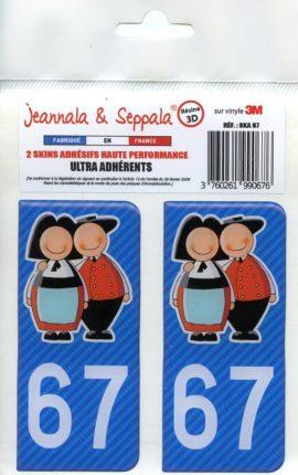 ADHESIFS PLAQUE VOITURE 67 Jeannala & Seppala