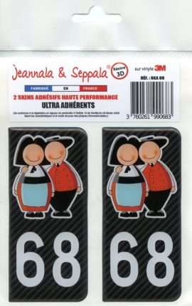 ADHESIFS PLAQUE VOITURE 68 Jeannala & Seppala