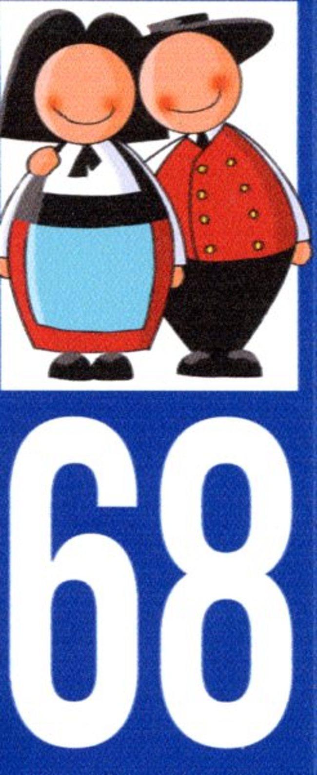 ADHESIFS PLAQUE MOTO  68 Jeannala & Seppala