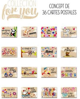 CARTES POSTALES FOR YOU – CONCEPT 36 X 10 sans enveloppes