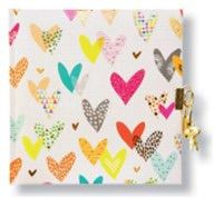 CARNET INTIME TURNOWSKY 96 PAGES – 16,5 x 16,5 cm – LOTS OF HEARTS