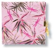 CARNET INTIME TURNOWSKY 96 PAGES – 16,5 x 16,5 cm – JUNGLE VIBES DRAGONFLY