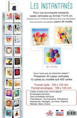 40×10 CARTES SIMPLE 100x123mm INSTANTANES + PRESENTOIR + FRONTON – COMPENSATION 78 CARTES