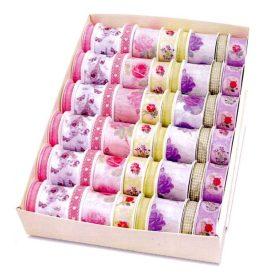 BOX DE 54 RUBANS TISSU 2 M